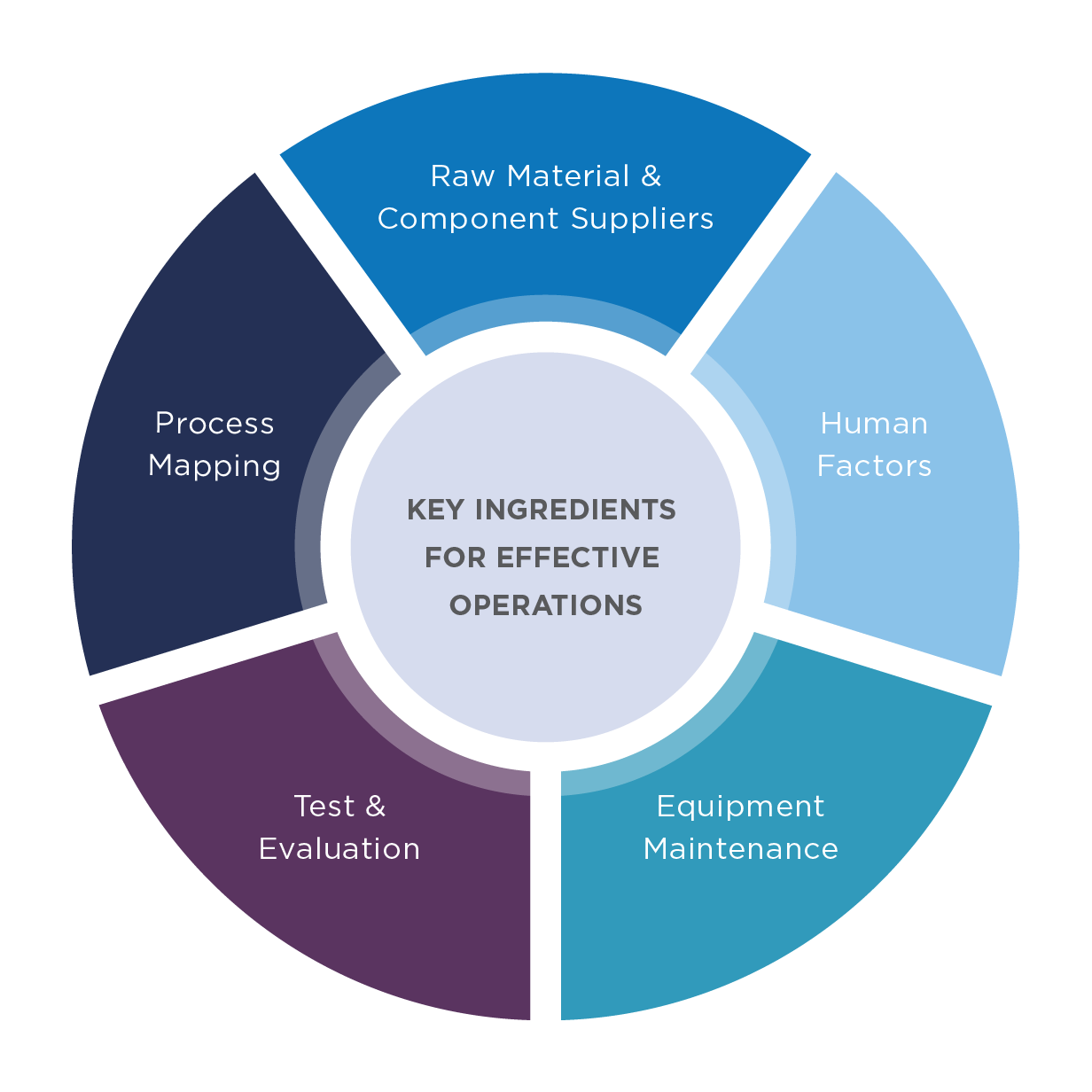 A Hemisphere Consulting operations research key ingredient map infographic